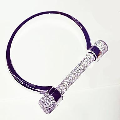 Erkek Kadın Bilezikler Moda lüks mücevher Kişiselleştirilmiş Avrupa Yapay Elmas Gümüş Mücevher IçinDüğün Parti Özel Anlar Doğumgünü Nişan
