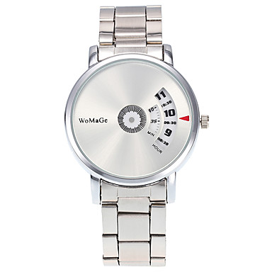 Bayanların Moda Saat Bilek Saati Quartz / Paslanmaz Çelik Bant Heart Shape Havalı Günlük Gümüş Beyaz Siyah