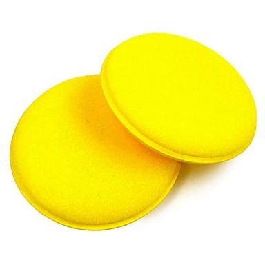 ziqiao 2pcs царапаться чистки автомобиля круг воск / польский желтой пены губки очищающую подушку автомобиля инструмент по уходу за