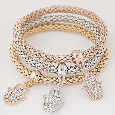 여성용 라인석 모조 다이아몬드 참 팔찌 - 사치 멀티 레이어 패션 무지개 팔찌 제품 선물 일상