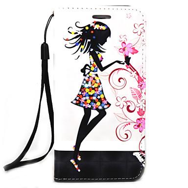 Etui Käyttötarkoitus Samsung Galaxy Korttikotelo Lomapkko Suojakuori Kukka Kova PU-nahka varten Note 5 Note 4 Note 3
