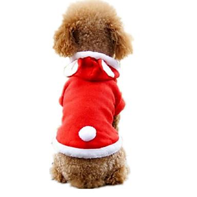 Σκύλος Στολές Ρούχα για σκύλους Πολική Προβιά Άνοιξη/Χειμώνας Χειμώνας Καθημερινά Ζώο Κόκκινο Για κατοικίδια