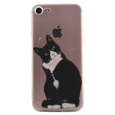 Mert Átlátszó / Minta Case Hátlap Case Cica Puha TPU Apple iPhone 7 Plus / iPhone 7 / iPhone 6s Plus/6 Plus / iPhone 6s/6 / iPhone SE/5s/5