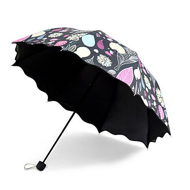Siyah Katlanan Şemsiye Güneş Şemsiyesi Plastic Bebek Arabası