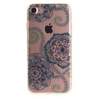 Varten iPhone 7 kotelo iPhone 6 kotelo IMD Etui Takakuori Etui Kukka Pehmeä TPU varten AppleiPhone 7 Plus iPhone 7 iPhone 6s Plus/6 Plus