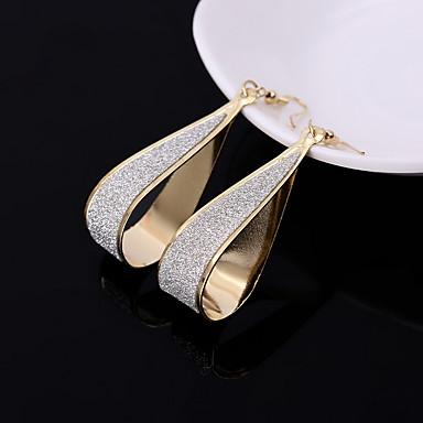 Kolczyki wiszące Biżuteria minimalistyczny styl Europejski Stop Gold Black Silver Biżuteria Na Ślub Impreza Codzienny Casual 1 para