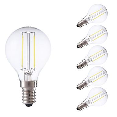 GMY® 6szt 250lm E14 Żarówka dekoracyjna LED P45 2 Koraliki LED COB Ciepła biel Zimna biel 220-240V