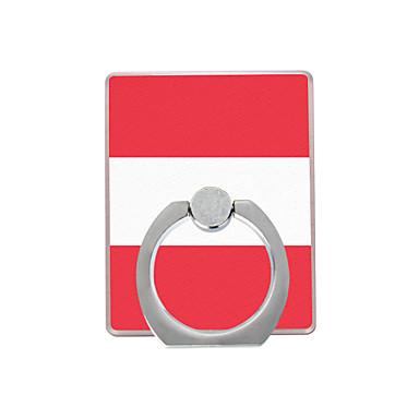 Αυστρία σημαία μοτίβο πλαστική θήκη δαχτυλίδι / 360 περιστρεφόμενη για κινητό τηλέφωνο iphone 8 7 samsung galaxy s8 s7