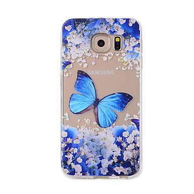 Etui Käyttötarkoitus Samsung Galaxy S7 edge S7 Kuvio Takakuori Perhonen Pehmeä TPU varten S7 edge S7 S6 edge S6 S5 S4