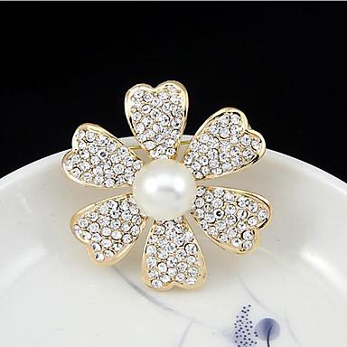 Május polly európa klasszikus természetes gyöngy gyémánt üreges kamélia virágcsokor