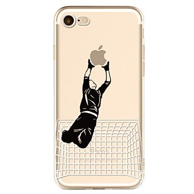Kılıf Na Apple iPhone 6 iPhone 7 Plus iPhone 7 Wzór Czarne etui Zabawa z logiem Apple Miękkie TPU na iPhone 7 iPhone 6s iPhone 6