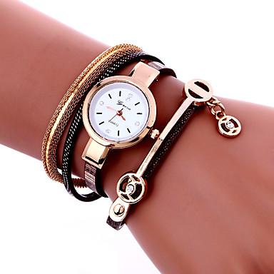 Damskie Kwarcowy Zegarek na nadgarstek Zegarek na bransoletce Kolorowy PU Pasmo Urok Vintage Na co dzień Artystyczny Modny Nowoczesne