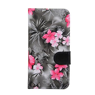 S6000 kenar s6 s6 için kenara artı çanta çiçekler pu deri cep telefonu kılıf s6
