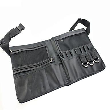 musta kahden jonon meikki harjapidike ammattilainen PVC esiliina laukku taiteilijan hihna protable muodostavat laukku kosmeettisia