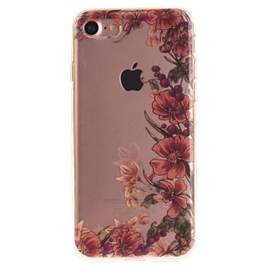 Pouzdro Uyumluluk Apple iPhone 6 iPhone 7 IMD Arka Kapak Çiçek Yumuşak TPU için iPhone 7 iPhone 6s iPhone 6