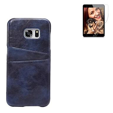 용 카드 홀더 케이스 뒷면 커버 케이스 단색 하드 인조 가죽 용 Samsung S7 edge / S7 / S6 edge plus / S6 edge / S6