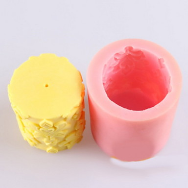 σχήμα λουλουδιού καλούπι κερί, καλούπια σαπούνι mooncake μούχλα μούχλα κέικ φοντάν σοκολάτας σιλικόνης, τα εργαλεία διακόσμησης bakeware