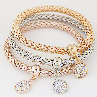 166d4ad29 cheap Tennis Bracelets-Women's Charm Bracelet Layered Stack Stacking  Stackable Ladies. Women's ...