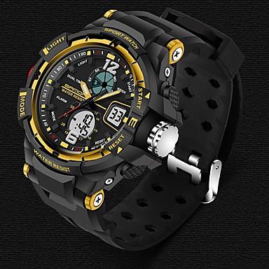 Χαμηλού Κόστους Ανδρικά ρολόγια-SANDA Ανδρικά Αθλητικό Ρολόι Έξυπνο ρολόι Ρολόι Καρπού Ψηφιακή Γιαπωνέζικο Quartz σιλικόνη Μαύρο 30 m Ανθεκτικό στο Νερό Συναγερμός Χρονογράφος Αναλογικό-Ψηφιακό Πολυτέλεια Καθημερινό Μοντέρνα -