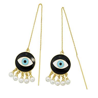 Kolczyki wiszące Stop Gold Biżuteria Na Impreza 1 para