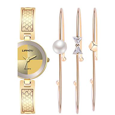 Do sukni/garnituru Modny Zegarek na nadgarstek Zegarek na bransoletce Kwarcowy Wodoszczelny Stal nierdzewna PasmoArtystyczny Perły Z