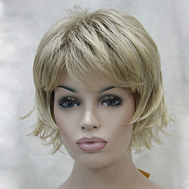 Συνθετικά μαλλιά Περούκες Κυματιστό Κούρεμα με φιλάρισμα Με αφέλειες Χωρίς κάλυμμα Καρναβάλι περούκα Απόκριες Περούκα