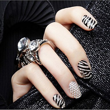 12Pcs/Lot Nail Art tarra Diecut manikyyri Stencil meikki Kosmeettiset Nail Art Design