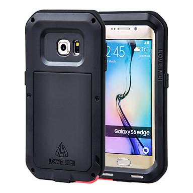 Para Samsung Galaxy Capinhas Água / Dirt / à prova de choque Capinha Corpo Inteiro Capinha Armadura Metal Samsung S6 edge