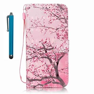 Etui Käyttötarkoitus Samsung Galaxy A5(2016) A3(2016) Lomapkko Korttikotelo Tuella Kokonaan peittävä Puu Kova PU-nahka varten A5(2016)