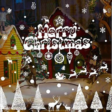 Karácsony Mondások & Idézetek Ünneő Falimatrica Repülőgép matricák Dekoratív falmatricák lakberendezési fali matrica Fal Glass /
