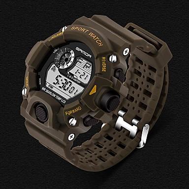 זול שעוני גברים-SANDA בגדי ריקוד גברים שעוני ספורט חכמים שעונים שעון יד דיגיטלי קוורץ יפני סיליקוןריצה שחור 30 m עמיד במים כרונוגרף LED דיגיטלי פאר יום יומי אופנתי - אדום כחול ירוק האנטר שנה אחת חיי סוללה / שעון עצר