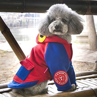 كلب المعاطف هوديس ملابس الكلاب جميل كاجوال/يومي موضة حيوان رمادي أحمر