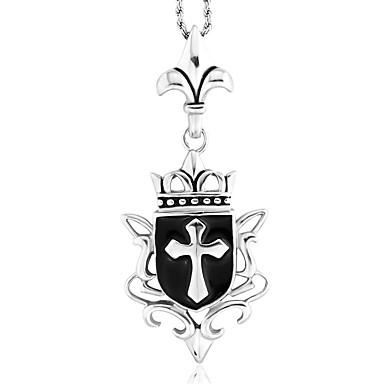 Męskie Křížky - Modny Silver Wisiorek Na Codzienny