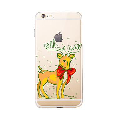 Pouzdro Uyumluluk Apple iPhone 5 Kılıf iPhone 6 iPhone 7 Şeffaf Temalı Arka Kapak Noel Yumuşak TPU için iPhone 7 Plus iPhone 7 iPhone 6s