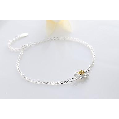 Kadın Ayak bileziği/Bilezikler alaşım minimalist tarzı Flower Shape Papatya Mücevher Uyumluluk Günlük