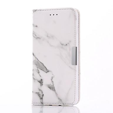 Varten Korttikotelo / Lomapkko / Tuella / Flip / Magneetti Etui Kokonaan peittävä Etui Marmori Kova Tekonahka varten AppleiPhone 7 Plus /