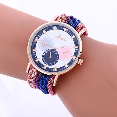 Damskie Zegarek na nadgarstek Modny Kwarcowy Stop Pasmo Vintage Na co dzień Niebieski Czerwony Pomarańczowy Zielnony Złoty Różowy