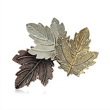 Moda retro broszki aluminiowe damskie eleganckie pin codziennie / co dzień trzy liście kształtu biżuteria akcesoria 1szt