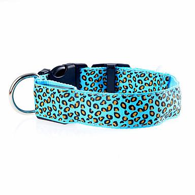 Kot / Pies Obroże Lampy LED / Korygujący / Wysuwany / Akumulator Cętki Nylon Czerwony / Green / Niebieski