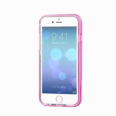 voordelige iPhone 5 hoesjes-hoesje Voor Apple iPhone 8 Plus / iPhone 8 / iPhone 7 Plus LED-knipperlicht / Transparant Achterkant Effen Zacht TPU
