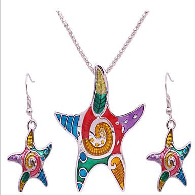 Κοσμήματα 1 Κολιέ / 1 Ζευγάρι σκουλαρίκια Πάρτι / Καθημερινά / Causal 1set Γυναικεία Ασημί Δώρα Γάμου