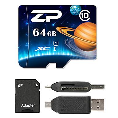 ZP 64GB MicroSD فئة 10 80 Other متعددة في قارئ بطاقة واحدة مايكرو التنمية المستدامة قارئ بطاقة SD قارئ بطاقة ZP-1 USB 2.0