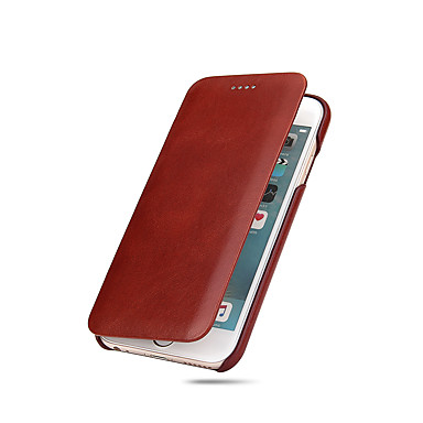 voordelige iPhone 6 hoesjes-hoesje Voor Apple iPhone X / iPhone 8 Plus / iPhone 8 Ultradun Volledig hoesje Effen Hard aitoa nahkaa