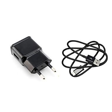 Töltő otthoni használatra Hordozható töltő Telefon USB töltő EU konnektor Töltő szett 1 USB port 1A AC 100V-240V Mobilkészüléknek