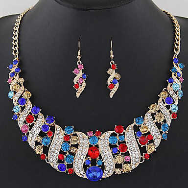 Dame Seturi de bijuterii Mai multe pietre Bijuterii Statement Modă European Petrecere Zilnic Pietre sintetice Diamante Artificiale Aliaj