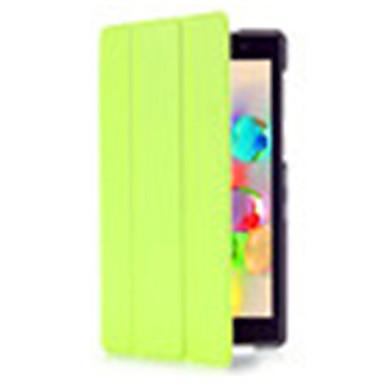 Pouzdro Uyumluluk Asus Tam Kaplama Kılıf Tablet Kılıfları Tek Renk Sert PU Deri için