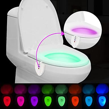2buc brelong modernizate impermeabil uv senzor de lumină sterlization schimbare de culoare induse de om lumina de toaletă
