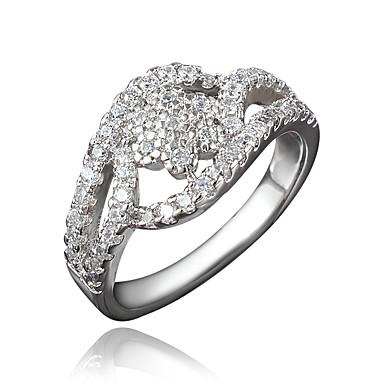 Γυναικεία Δαχτυλίδι Cubic Zirconia Επιχρυσωμένο 18K χρυσό Κοσμήματα Για Γάμου Πάρτι Καθημερινά Causal