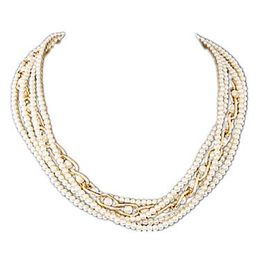 Γυναικεία Σχήμα Πολυεπίπεδο Μοντέρνα Coliere cu Perle Σκέλη Κολιέ Μαργαριτάρι Απομίμηση Μαργαριταριού Κράμα Coliere cu Perle Σκέλη Κολιέ