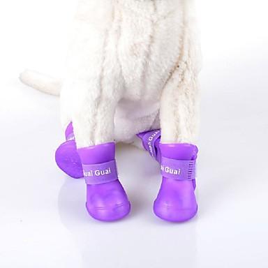 Γάτα Σκύλος Παπούτσια & Μπότες Αδιάβροχη Μονόχρωμο Μαύρο Βυσσινί Τριανταφυλλί Πράσινο Μπλε Για κατοικίδια